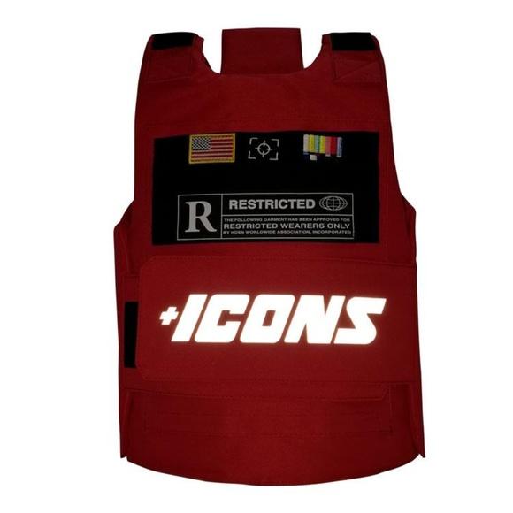 Hudson Red Icons Vest Reflective